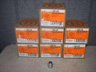 175 Bridgeport Steel EMT Connectors