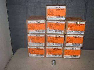250 Bridgeport Steel EMT Connectors