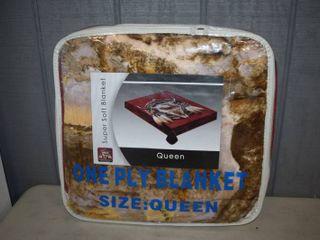 Queen Size Plush Blanket