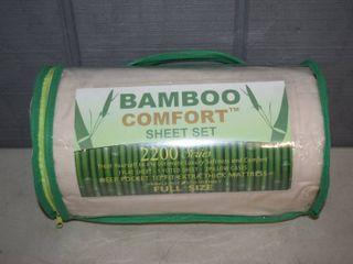 Bamboo Comfort Full Size Sheet Set