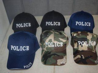 6 Ball Caps   Nice  heavy caps with velcro close