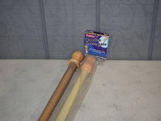 2 Wooden Flag Poles 57
