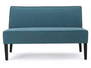 Dejon Fabric loveseat by Christopher Knight Home  Teal  Retail 224 49