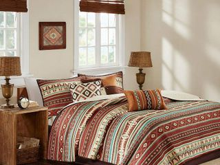 Spice Duncan Printed Quilt Set  King California King  6pc
