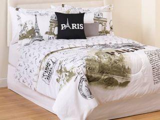 Casa Paris Postcard 5 Piece Reversible King Comforter Set