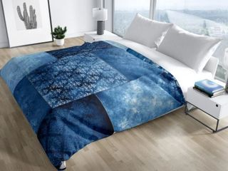 Eclectic Bohemian Patchwork Blue Queen Duvet Cover By Kavka Designs  Retail 151 49