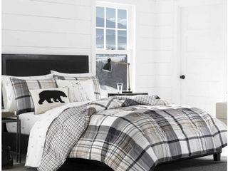 Eddie Bauer Normandy Plaid Comforter Full Queen Set  Retail 109 99