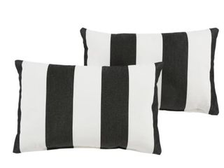 Duvall II Sunbrella Cabana Classic Indoor Outdoor Pillows  Set of 2