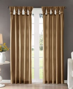 lillian Twisted Tab lined light Filtering Curtain Panel Pair  95  x 50  Taupe