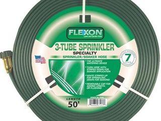 Flexon 50 Foot Three Tube Sprinkler Hose