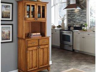 Incomplete Top Hutch Only  Copper Grove Hiawatha Cottage Oak Hutch Buffet  Retail 453 31