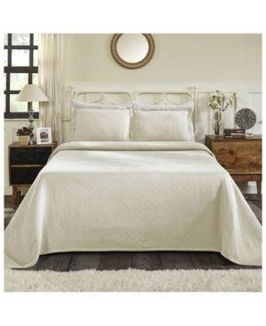 Impressions Brynner Cotton Basket Bedspread 3 Piece Bedding Set  King