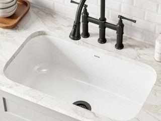 KRAUS Pintura Enameled Steel Undermount Sink