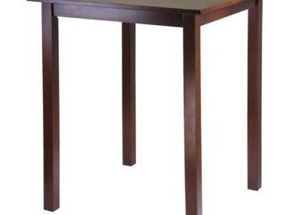 Parkland High Table  Walnut Finish Solid Wood  Damaged