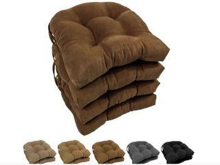 Blazing Needles 16 inch U Shaped Microsuede Chair Cushions  Set of 4