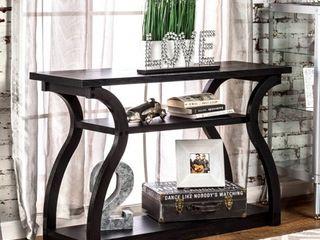 Furniture of America Sara Modern Black 2 shelf Console Table  Retail 245 49