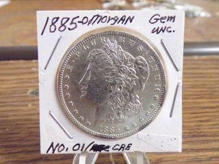 1885 O MORGAN DOllAR GEM UNC