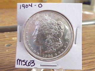 1904 O MORGAN DOllAR MS63