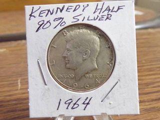 1964 KENNEDY HAlF DOllAR   90  SIlVER