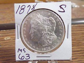 1878 S MORGAN SIlVER DOllAR MS63