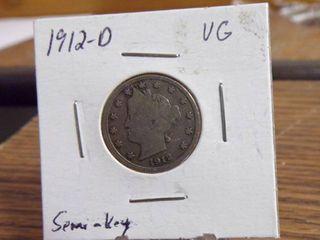 1912 D  V  NICKEl VG   SEMI   KEY