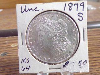 1879 S MORGAN SIlVER DOllAR UNC MS64