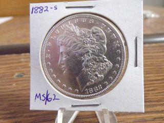 1882 S MORGAN DOllAR MS62