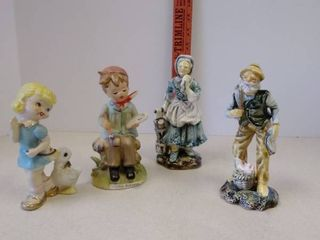 lot of ceramic figurines