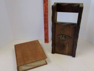 Wood storage box and Wood firep fireplace  long starter matches holder