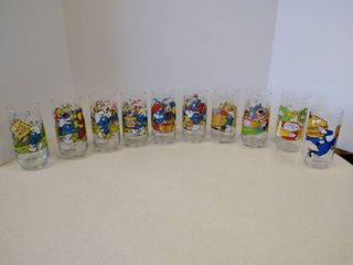 Smurf  Camp Snoopy  Big Mac glasses
