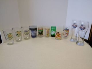 lot of 11 miscellaneous glasses