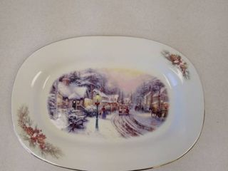 Thomas Kinkaid Holiday Christmas Platter
