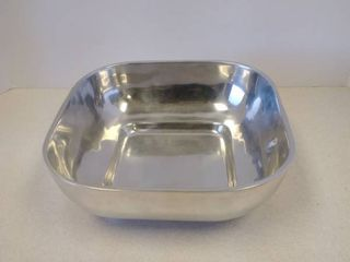 Old Town Imports serving Bowl polished aluminum silver Mexico signed