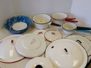 lot of Enamelware