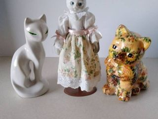 Cat figurines and Cat doll