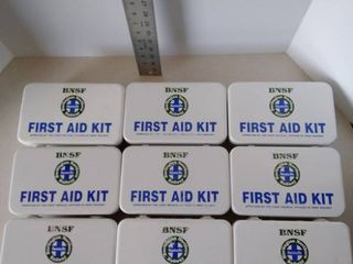 lot of BNSF FIRST AID KIT BOXES  metal