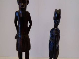 Hand Carved Wood African Figures