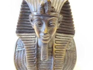 Egyptian pharaoh statue brass