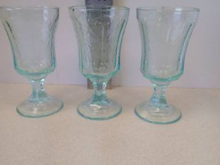 Indiana Glass Madrid Recollection Teal Goblets