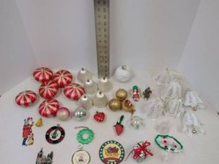 lot of Assorted Vintage Chtistmas tree ornaments