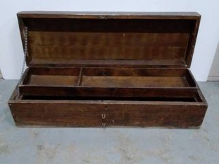 Wood crate tool box