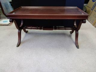 Vintage Coffee Table Regency Style with glass top