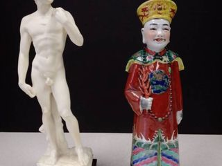 A  Santini statue of David and Chinese Statue