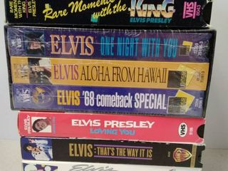 lot of Elvis VHS Movies