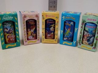 Walt Disney Collector Series Glasses lot of 5