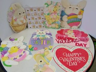 Vintage Easter and Valentine s Day Decor