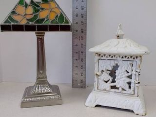 Tea light lamp and Cast Iron garden lantern