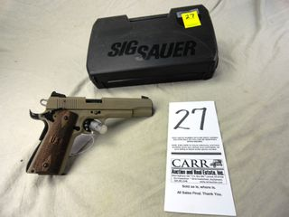 27  Sig Sauer 1911 22  Auto  22 Cal  SN T160971  Dark Earth w Box  HG