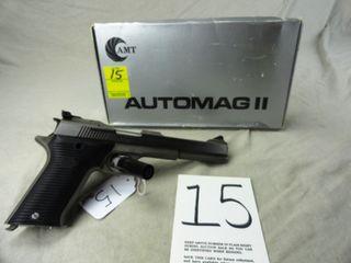 15  AMT Automag II  Auto  22 Mag  SN MO7830  SS w Box  HG