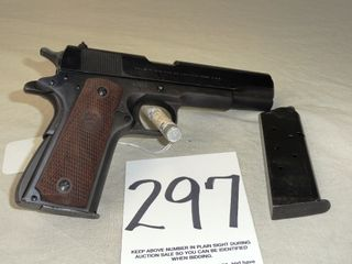 Colt Gov t Model 45 Auto  Plastic Grips  SN 335962 C  HG